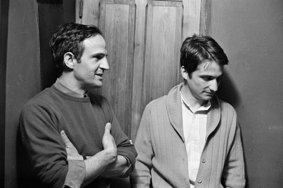 François Truffaut y el actor Jean-Pierre Léaud, quien interpreta al personaje Antoine Doinel