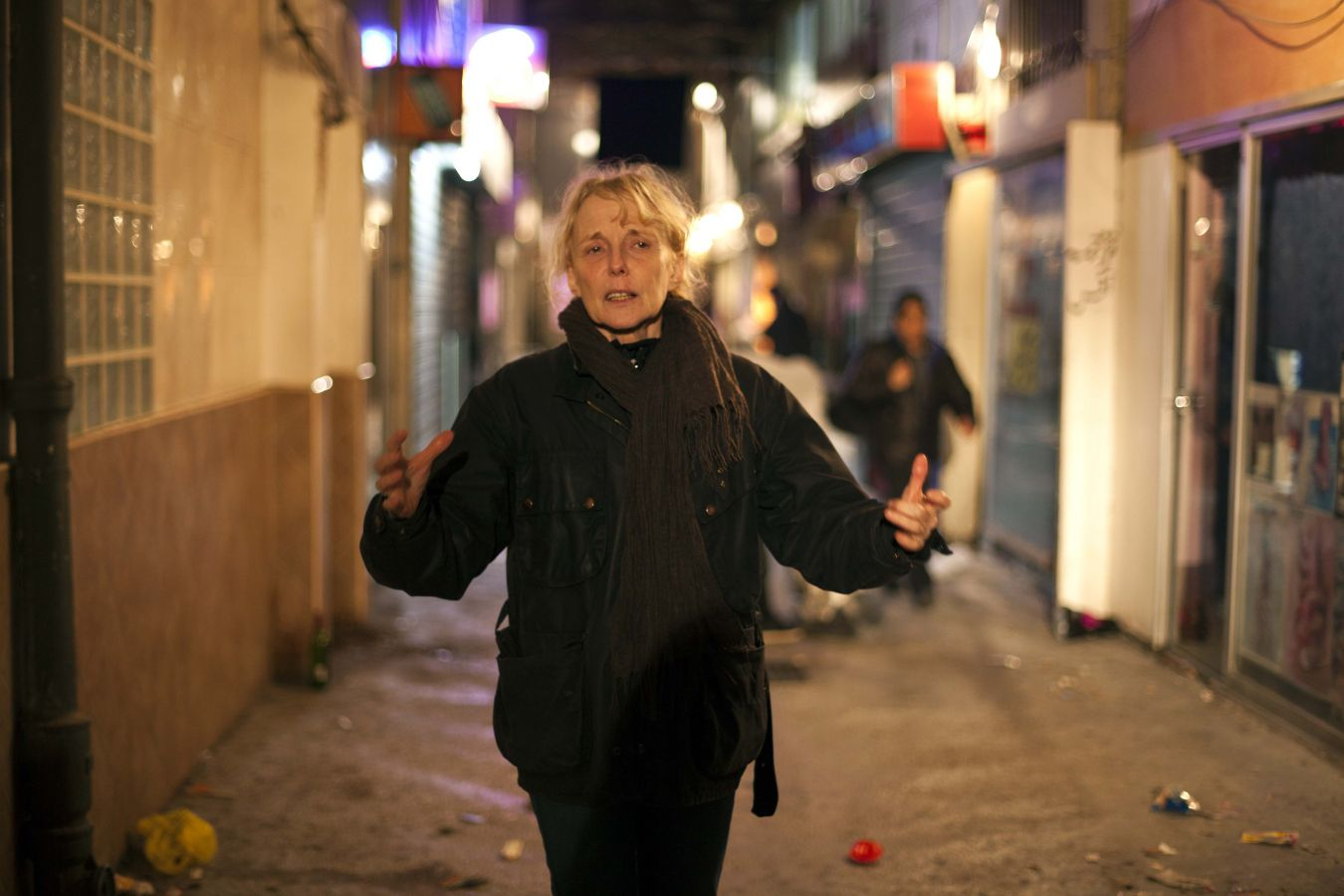 Claire Denis durante el rodaje de High life