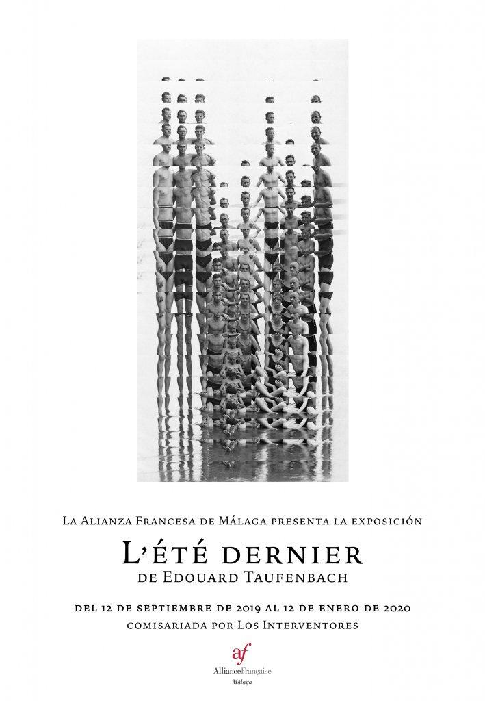 cartel de la exposición L'été dernier del artista Edouard Taufenbach
