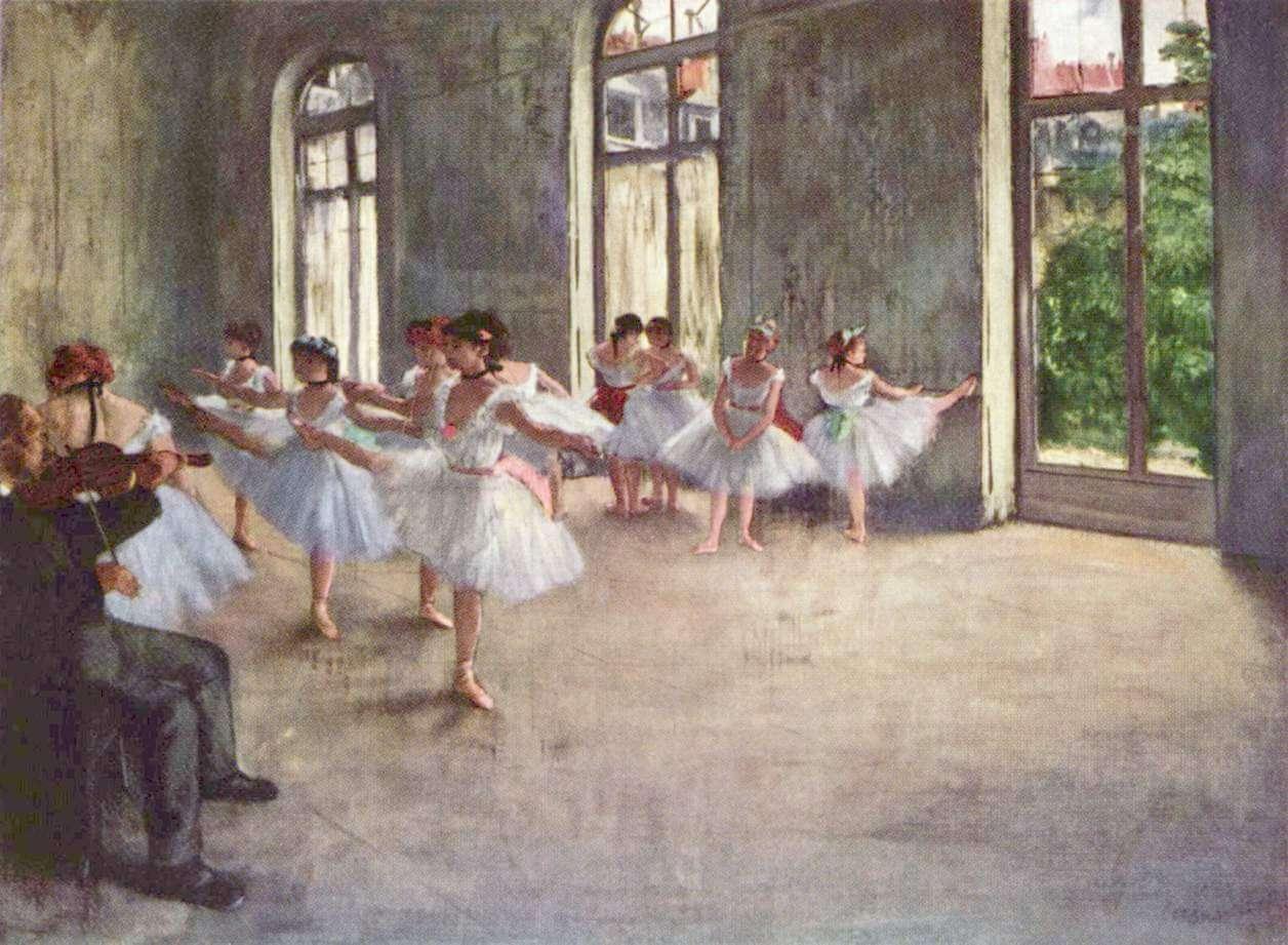 las bailarinas del Degas, uno de los artistas más destacados dle impresionismo francés