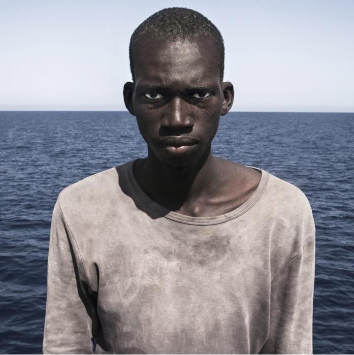 Retrato de Amadou Sumaila por Cesar Dezfuli