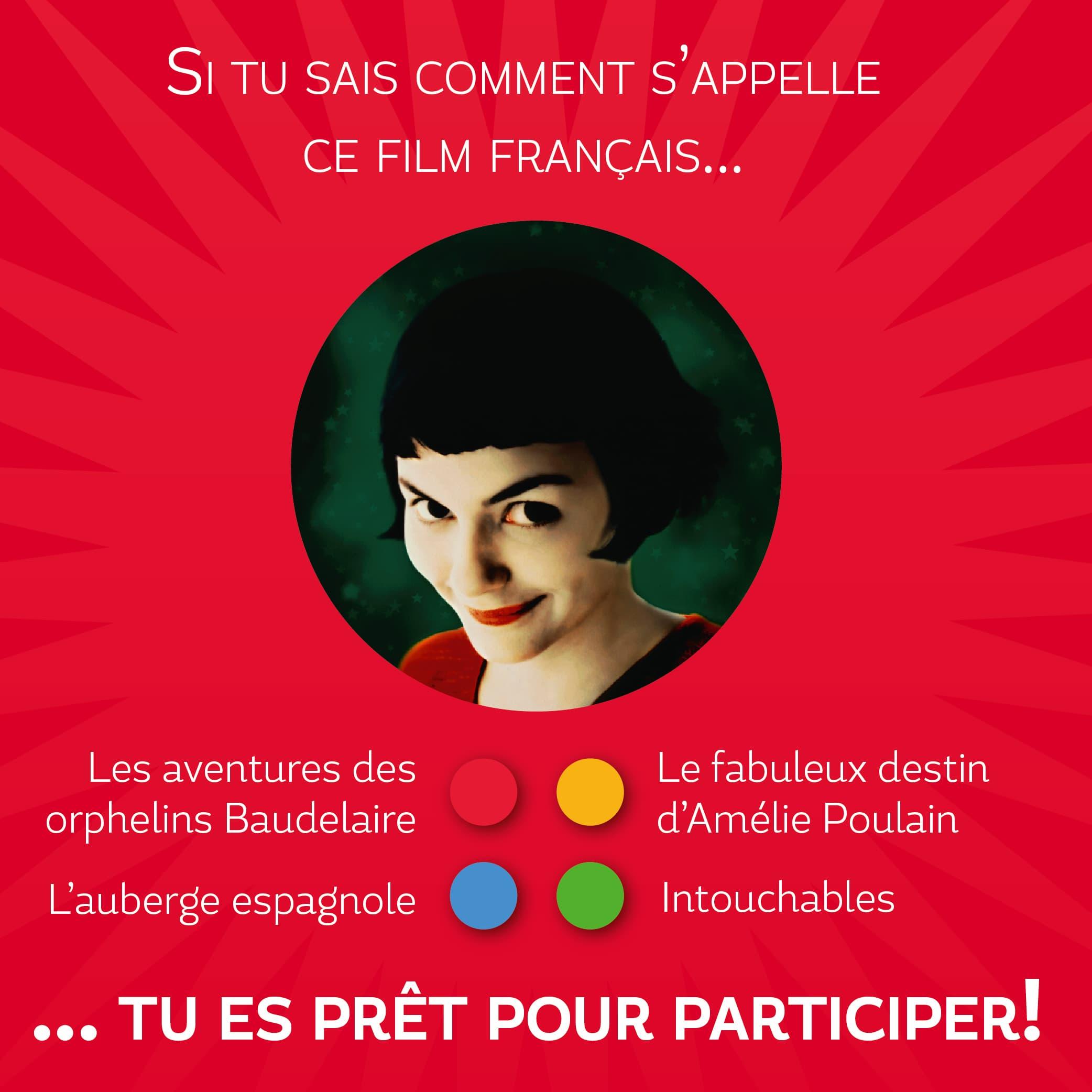 Cartel del concurso en línea de cultura francesa
