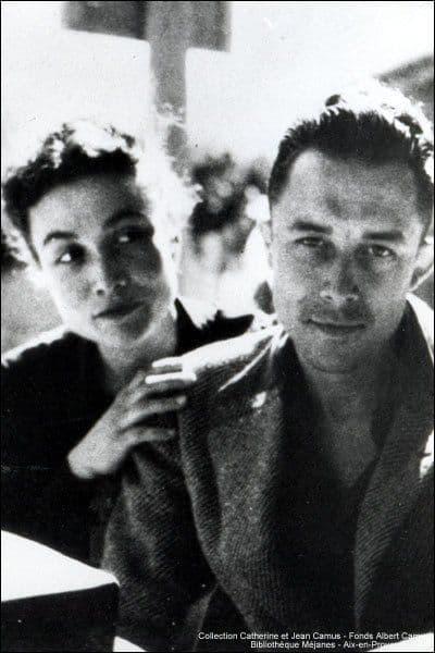 Alberrt Camus con su mujer, Francine Faure