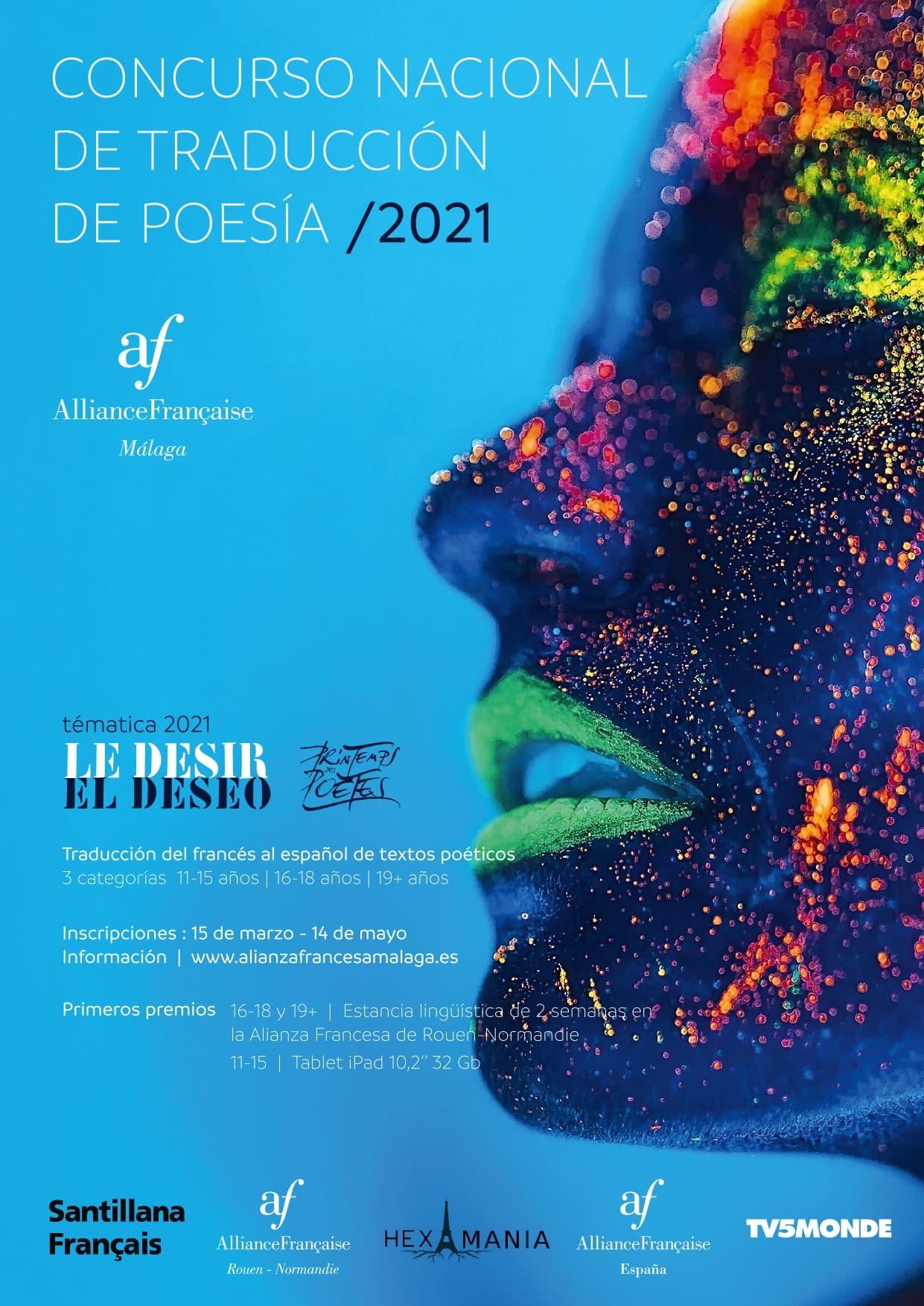 Cartel del concurso nacional de traducción poética de la alianza francesa