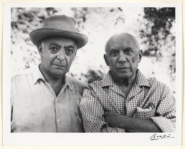 Fotografía de Brassaï y Pablo Picasso en los años sesenta