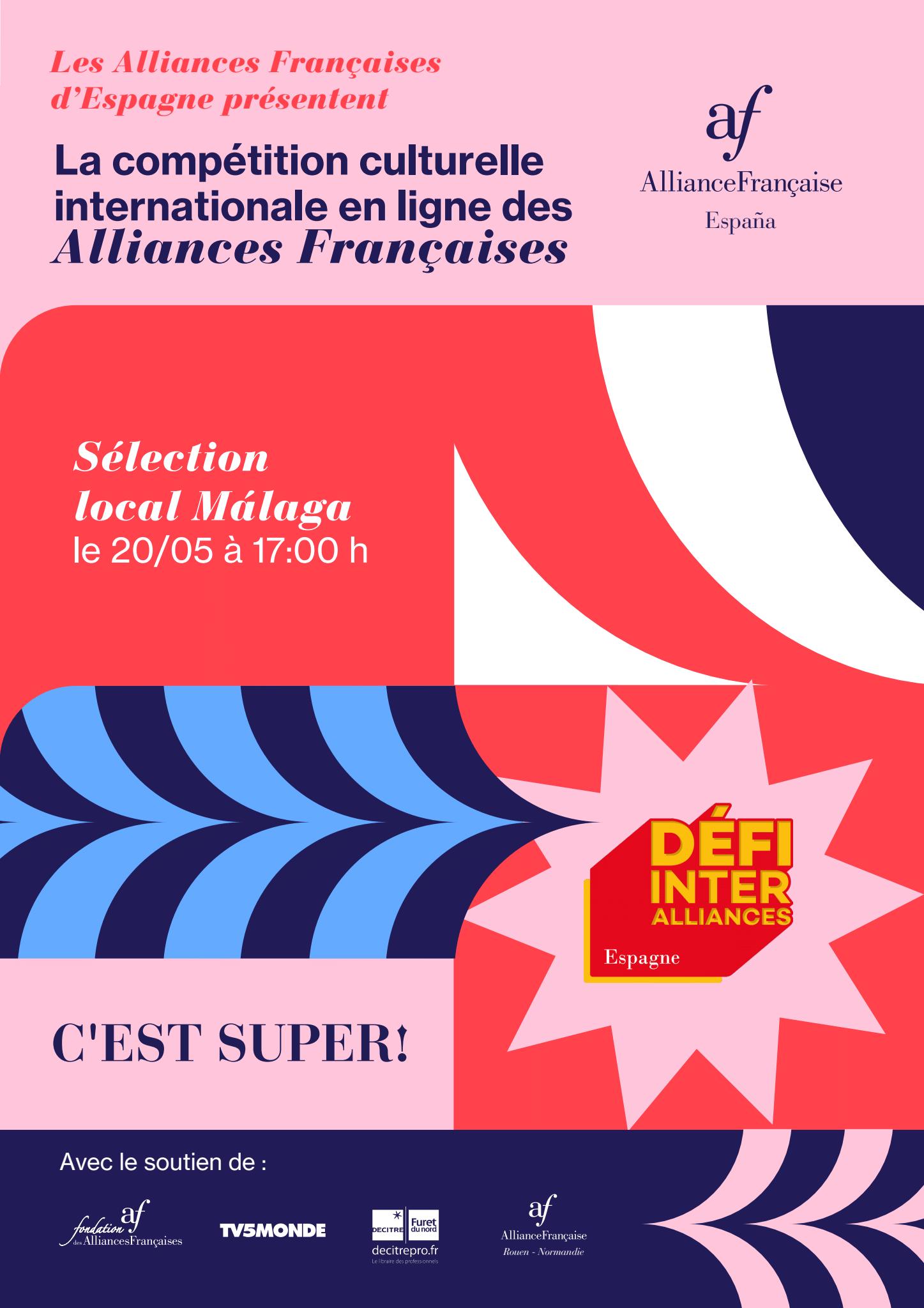 Cartel del concurso online de cultura francesa