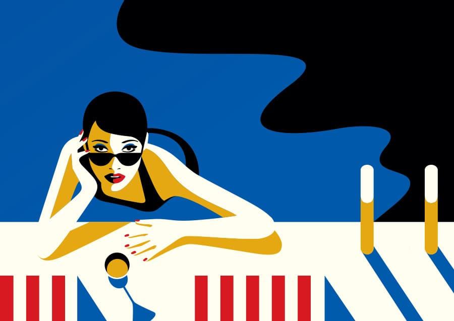 Ilustración de Malika Favre para DomainHollywood