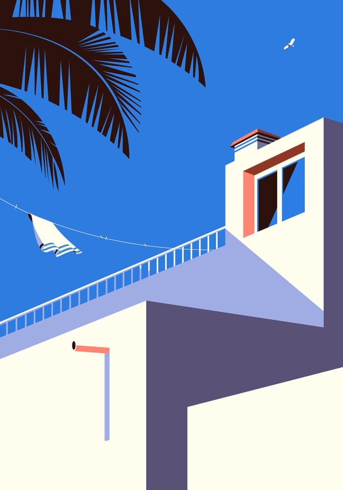 Ilustración de Malika Favre para islas canarias